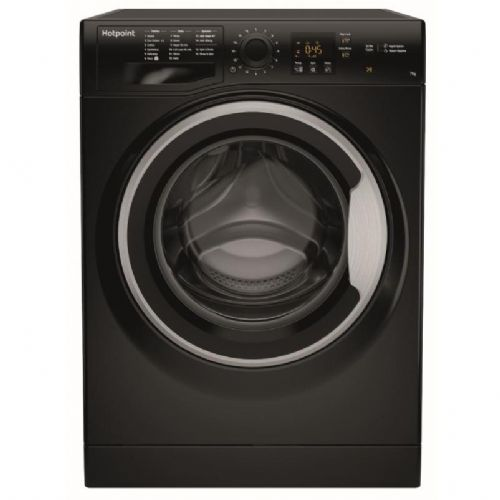 HOTPOINT NSWF743UBS Black 7KG Washing Machine 1400rpm